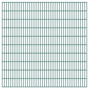 Festnight Ensemble de Panneaux de clôture d 2D 2008 x 2030 mm 50 m Vert dans Le Jardin
