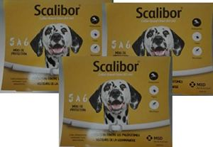 Scalibor 3Boxes Collier Antiparasitaire pour Chiens de Grande Taille 65cm