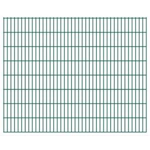Festnight- Panneaux de clôture 2D pour Jardin 2008×1630 mm 48 m Vert