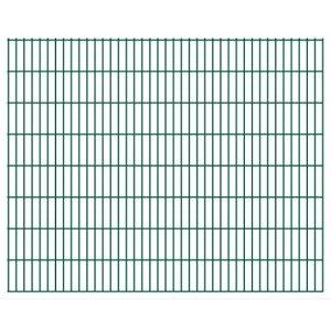 Festnight- Panneaux de clôture 2D pour Jardin 2008×1630 mm 50 m Vert