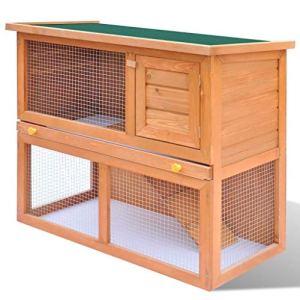 Generic Clapier extérieur Clapier UK Abbit Clapier Maison pour Animal Domestique AL House Pet CA Cage de Transport Ier Do Petit Animal Me Britannique de Porte en Bois pour Animal Domestique Home