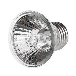 LouiseEvel215 25W Tortue Se Chauffant UV lumière E27 Amphibiens lézards Chauffage Lampe Portable Lampe de Reptile Spectre Complet