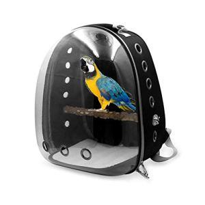 Porte-Oiseaux, Sac De Voyage en Plein Air pour Animaux De Compagnie De Voyage en Cage pour Sacs À Dos, Sac De Plein Air pour Espace Transparent, Capsule pour Perroquet