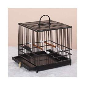Yanxinenjoy Cage, œil brodé, Cage à Oiseaux en Plastique, Bain en Plastique, carré, Durable et Robuste@Noir