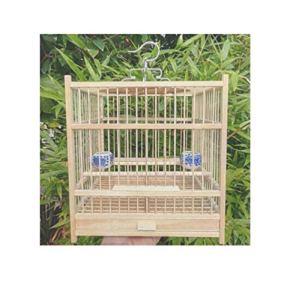 Yanxinenjoy Nid d'oiseau Cage à Oiseaux Petite Baignoire carrée en Bambou Durable