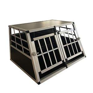 Generic Caisse XXL Double Cage OG CRA Transport Luminium Boîte de Voyage Rans XXL Boîte EL en Aluminium de Voiture Porte de Cage pour Animal Domestique pour Animal Domestique