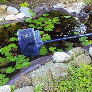 JBL Epuisette bassin, 30x20cm noir large, 90cm