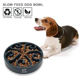 Decyam Gamelle antidérapante en Forme de Labyrinthe pour Animal Domestique – favorise Une Alimentation Saine et Une Digestion Lente (Grey)