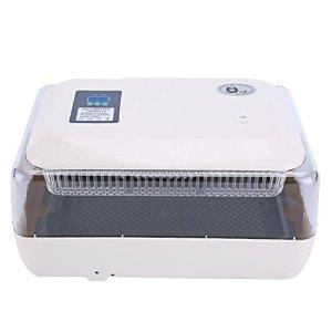 Incubateur Automatique à 24 œufs, Tourne-œufs avec Affichage de la Température, de l'humidité et du Temps d'éclosion pour Toutes Sortes d'œufs