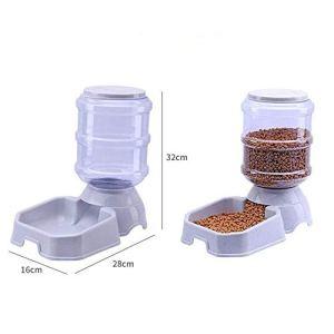WFHhsxfh Mangeoire en Plastique PP pour Animaux de Compagnie Grande capacité 3.8L Pet Feeder Pet Feeder