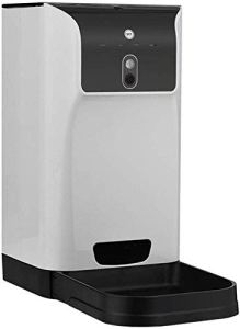 RAXYQ Fournitures pour Animaux APP Distributeur Automatique De Nourriture pour Animaux Domestiques pour Chats/Chiens Stockage 6L Compatible avec La Caméra WiFi Enregistreur Connexion WiFi