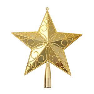 Toyvian étoile Golden à Cinq Branches pour Décoration Arbre de Noël 20CM