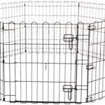 AmazonBasics Enclos pliant en métal avec porte pour chiens et animaux domestiques 152,4 x 152,4 x 60,9cm