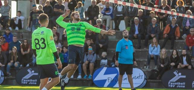 Faustball Final4 2019: 2. Halbfinale Männer – Faustball Widnau vs. FB Neuendorf – 4:3 (9:11/11:9/9:11/8:11/11:7/12:10/11:6)