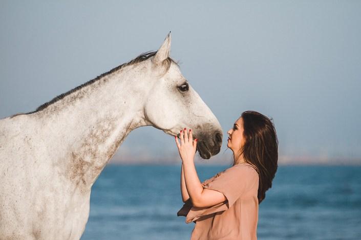 séance cheval et cavalier plage