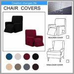 FAT Big Cat Housse de chaise inclinable élastique imperméable pour fauteuil de massage
