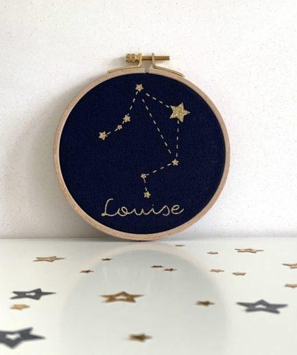 tambour personnalise constellation decoration enfant