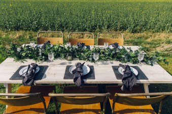 foliage greenery table runner