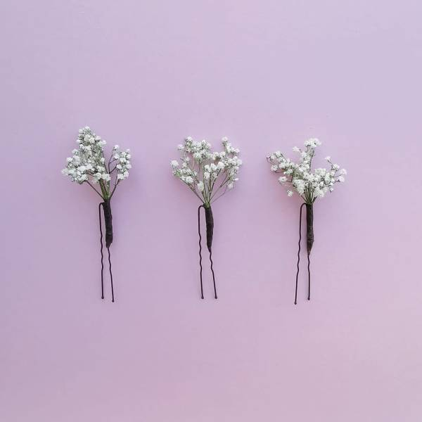 gypsophila hair pin