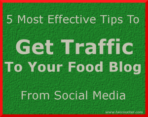 Get traffic to your food blog banner