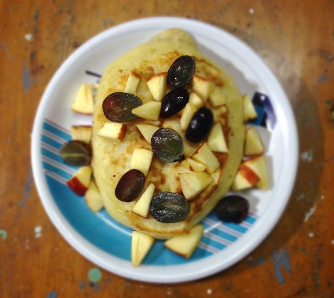 Awesome fruit pancakes