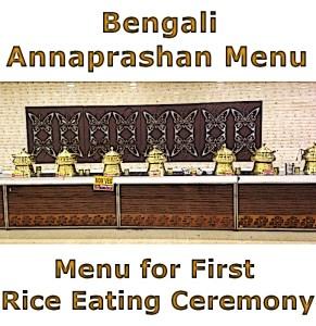 Bengali annaprasan menu