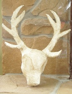 Plaster Faux Deer Head