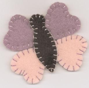 Spring Butterfly Felt Magnet