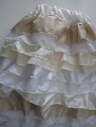 White and Cream Ruffle Dress-2