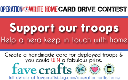 Operation Write Home card drive contest @ Fave Crafts logo