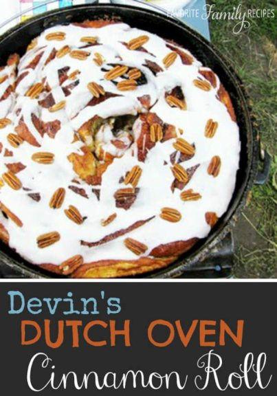 Dutch Oven Cinnamon Roll? Yes, please!