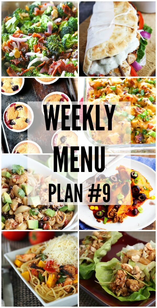 Weekly Menu Plan 9