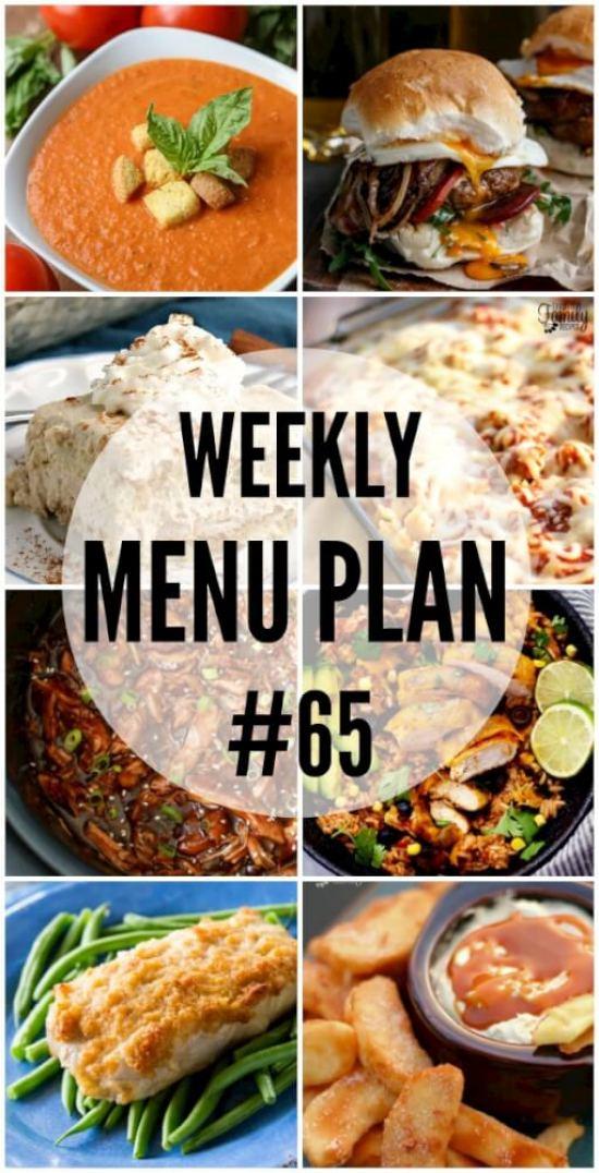 Weekly Menu Plan 65