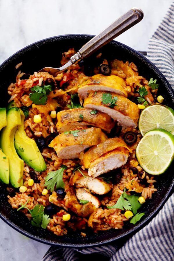 Cheesy Fiesta Chicken and Rice