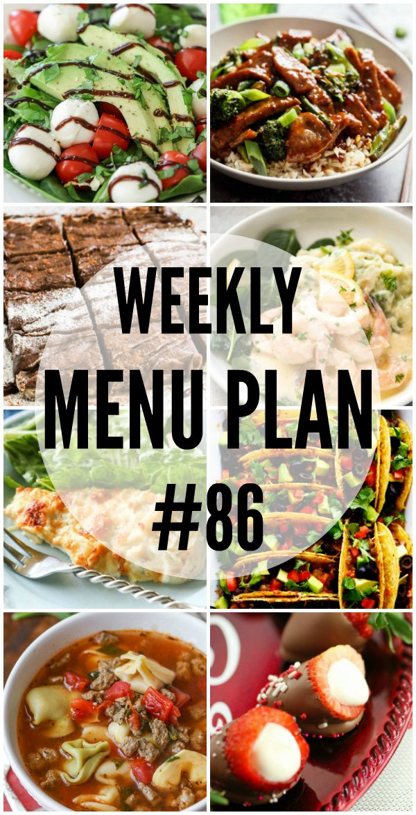 Weekly Menu Plan 86