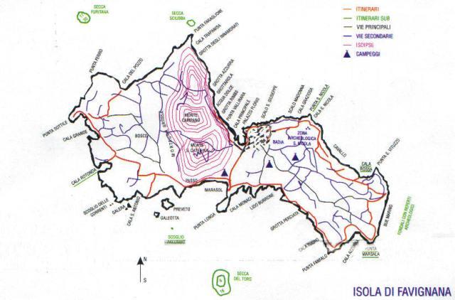 Favignana Mappa Trekking Itinerario