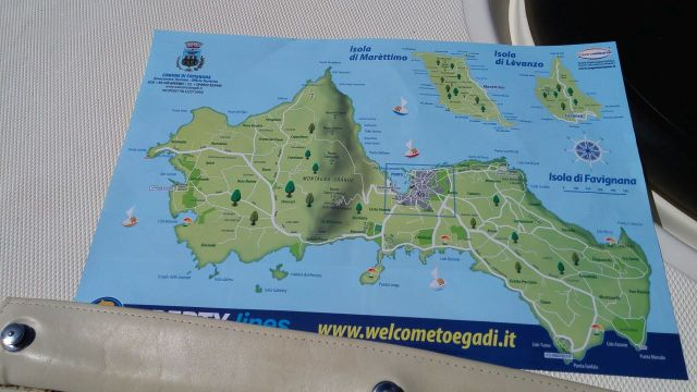 Mappa Isole Egadi