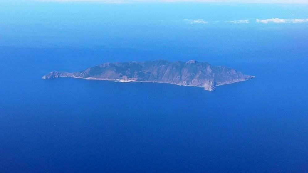 L'isola di Marettimo vista da un aereo di linea