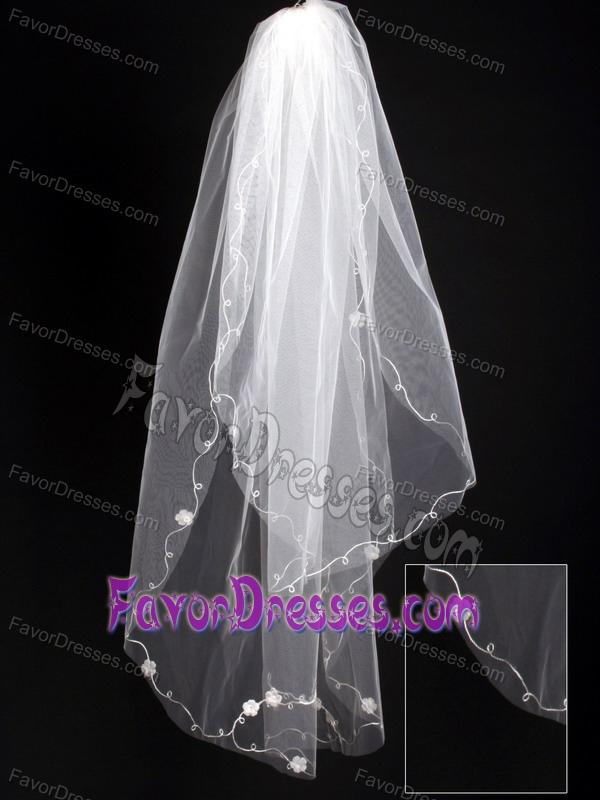 Organza Scalloped Edge Bridal Veil