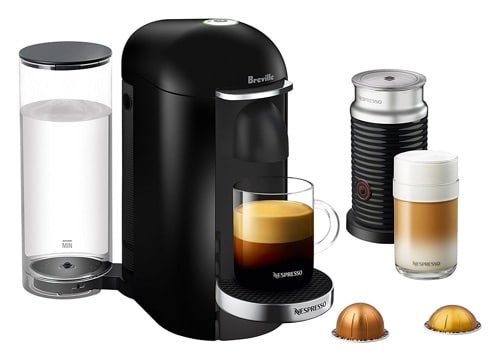 these machines are able to brew coffee and espresso using vertuoline capsules the machine will brew the coffee or espresso shot