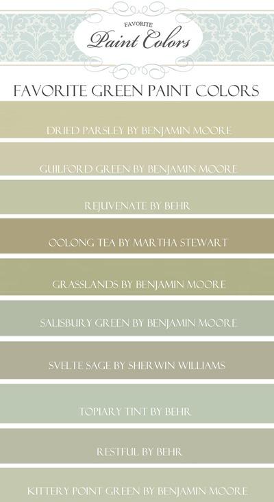 My Favorite Green Paint Colors Favorite Paint Colors Blog