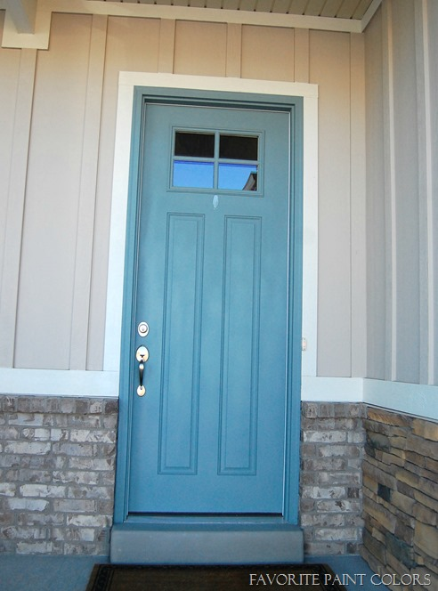 Seaport High Hide White And Stone Exterior Paint Colors
