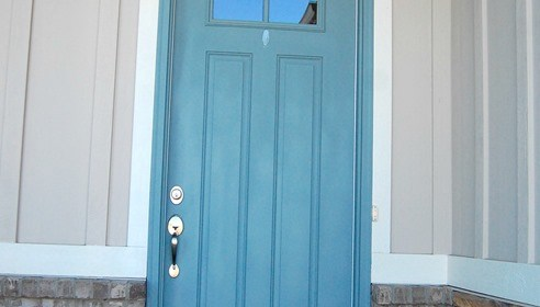 Seaport, High Hide White, and Stone {exterior paint colors}