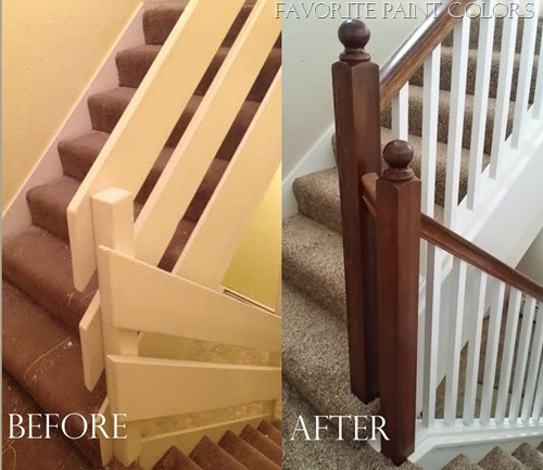 Staircase makeover: Favorite Paint Colors