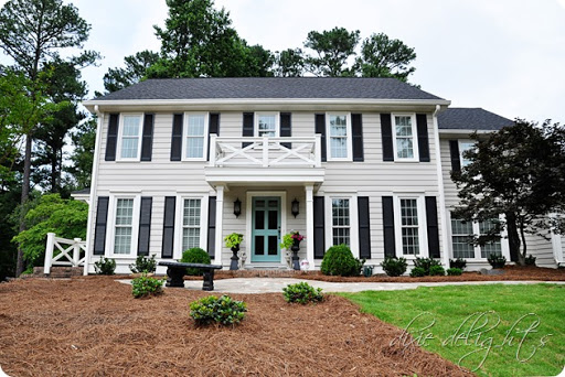 Exterior paint revere pewter charleston green white - Benjamin moore white dove exterior ...