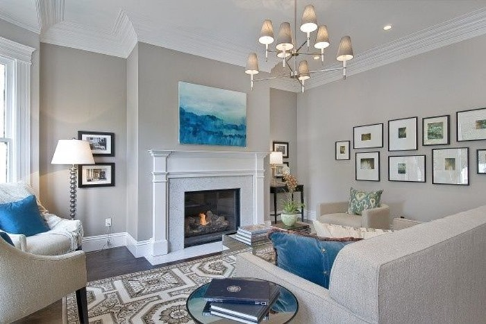 Living room paint color, gray