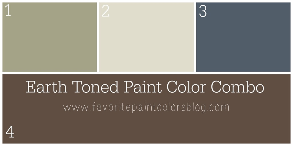 Earth Toned Paint Color Combination | Favorite Paint Colors Blog