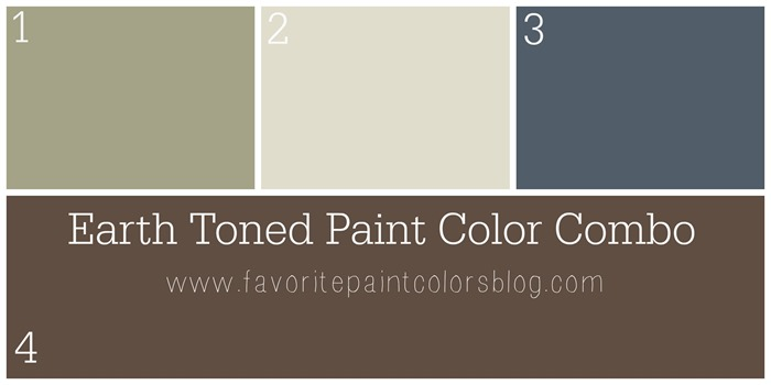 Earth toned paint color combo