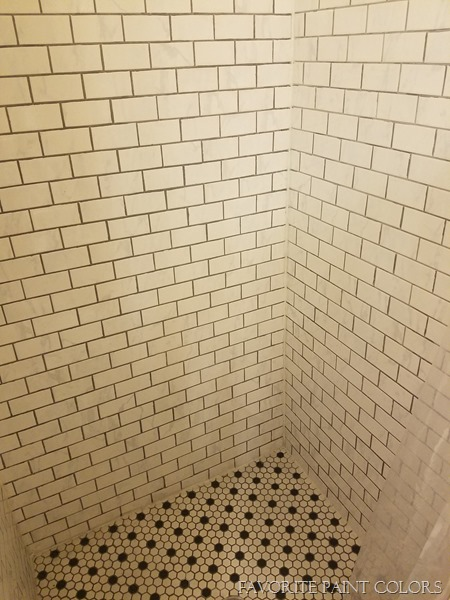 Bathroom shower tile