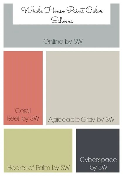 Parade of Homes Paint Color Scheme